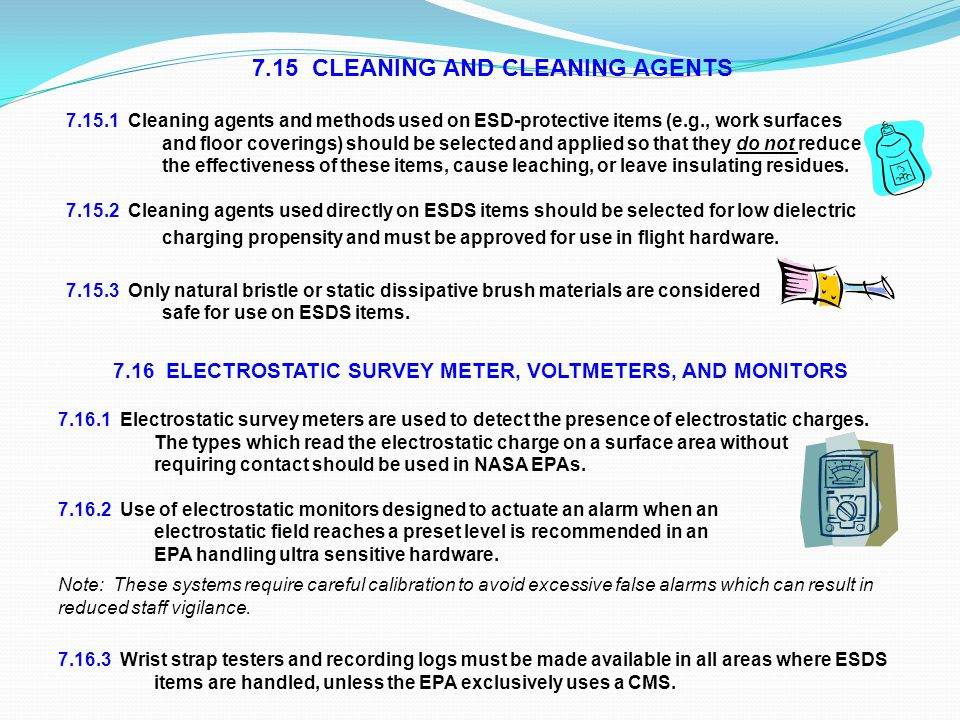 7.15 CLEANING AND CLEANING AGENTS