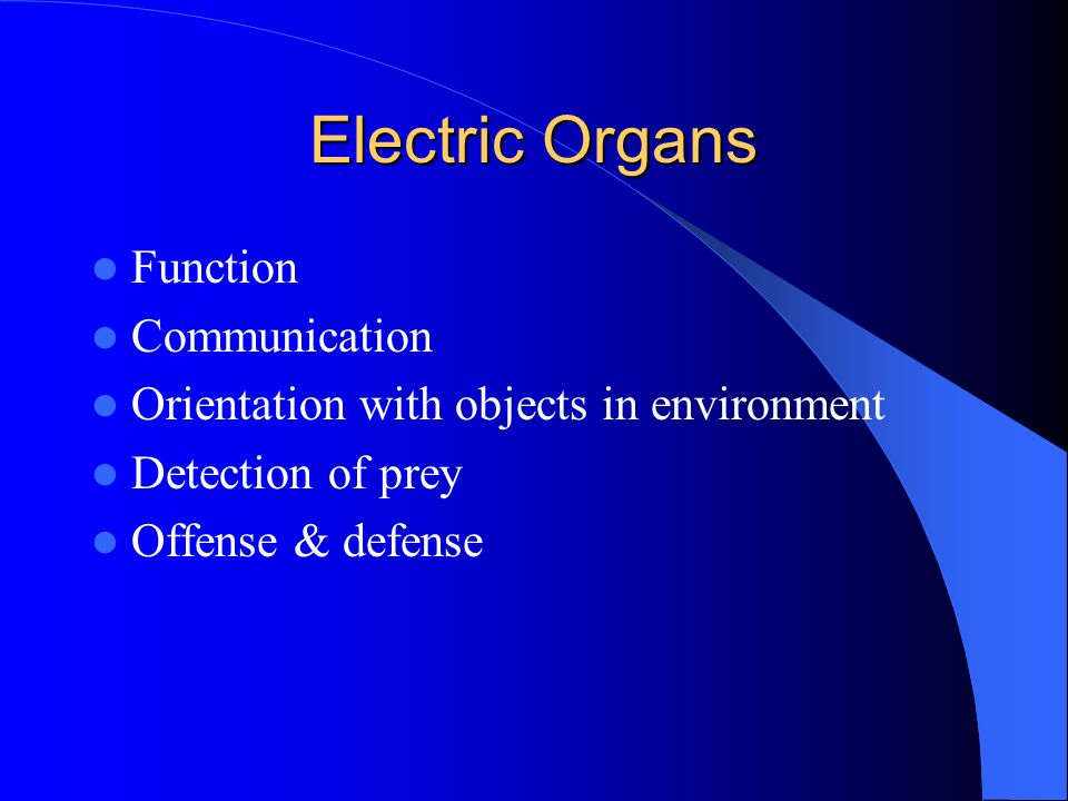 Electric Organs Function Communication