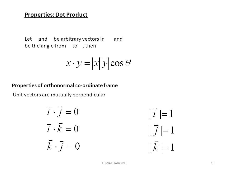 Properties: Dot Product