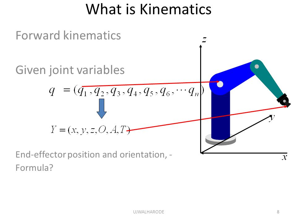 What is Kinematics Forward kinematics Given joint variables
