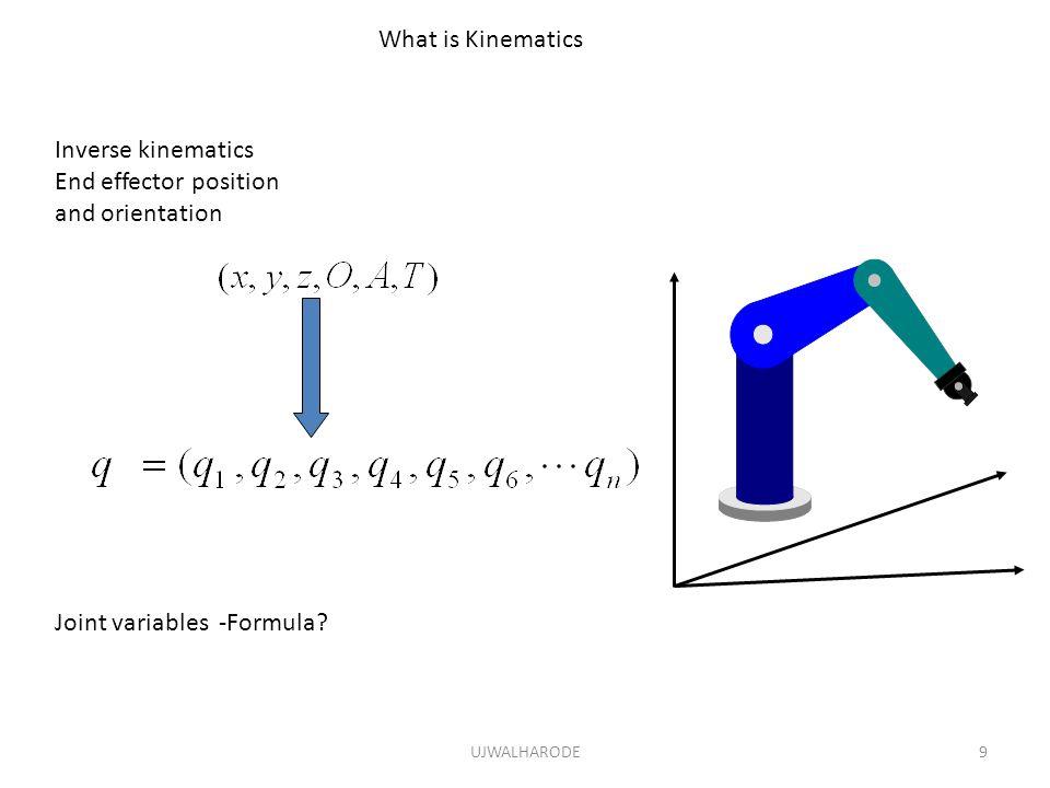 Joint variables -Formula