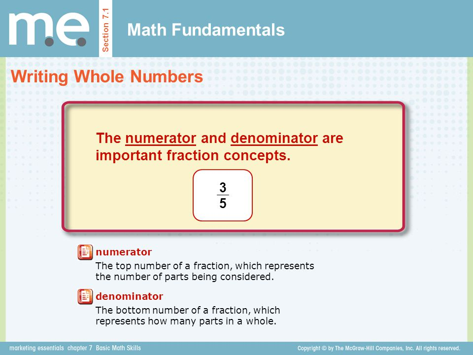 Math Fundamentals Writing Whole Numbers