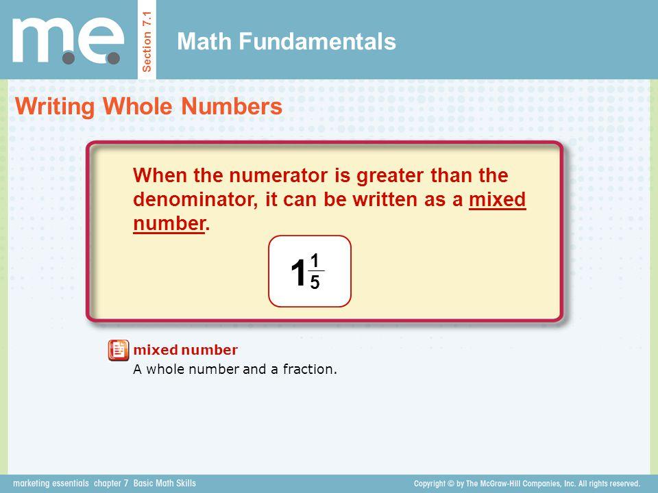 1 Math Fundamentals Writing Whole Numbers