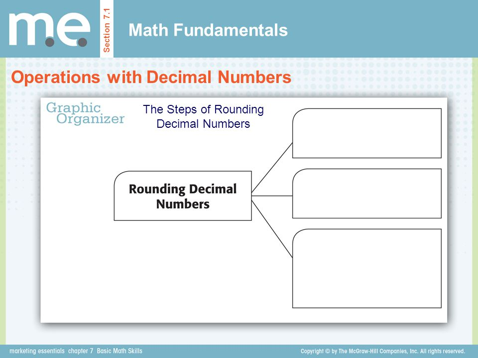 The Steps of Rounding Decimal Numbers