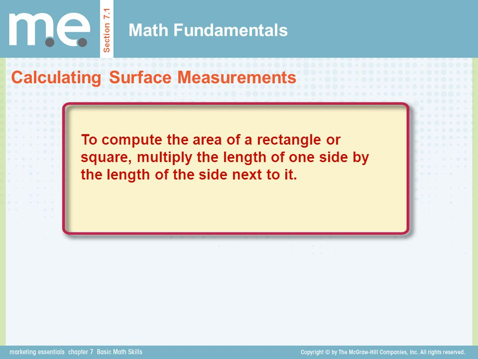 Calculating Surface Measurements