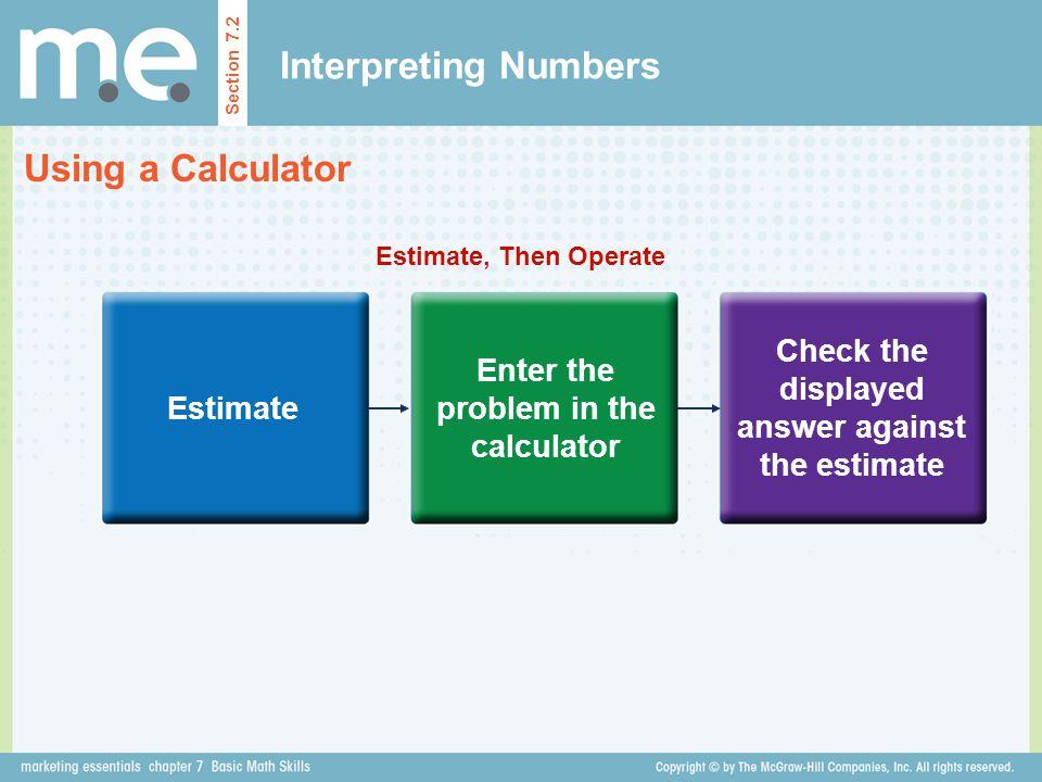 Interpreting Numbers Using a Calculator