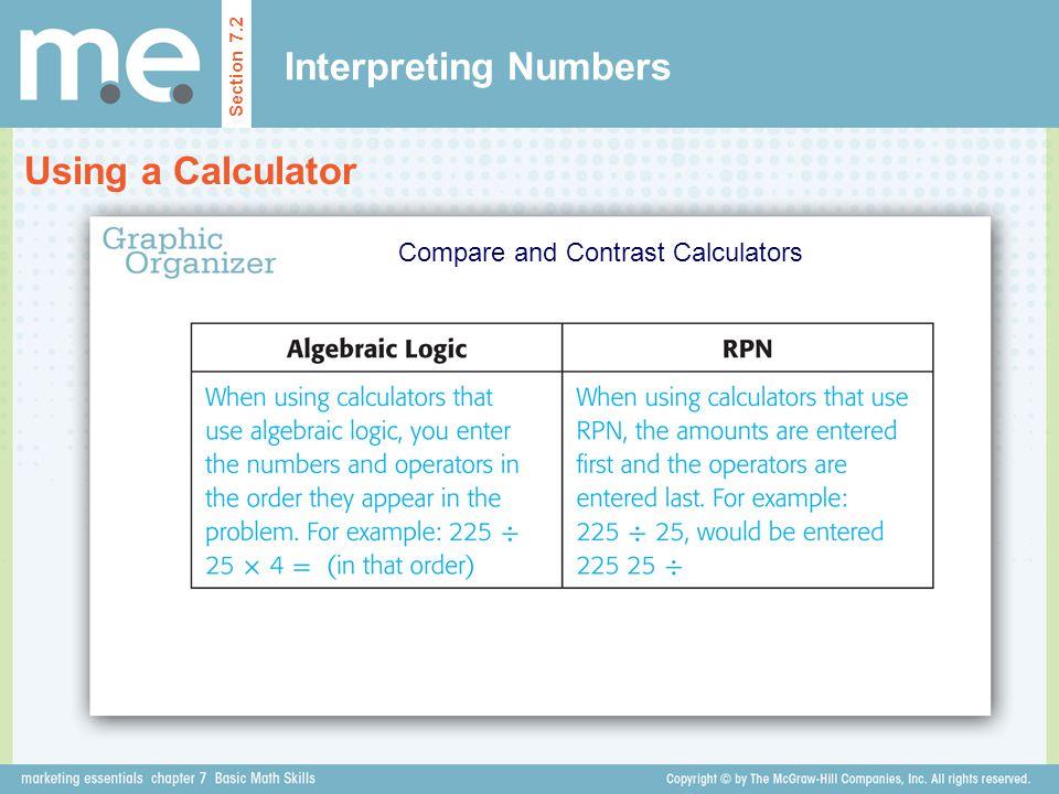 Compare and Contrast Calculators