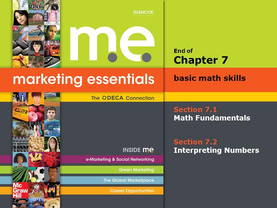 Chapter 7 basic math skills Section 7.1 Math Fundamentals Section 7.2