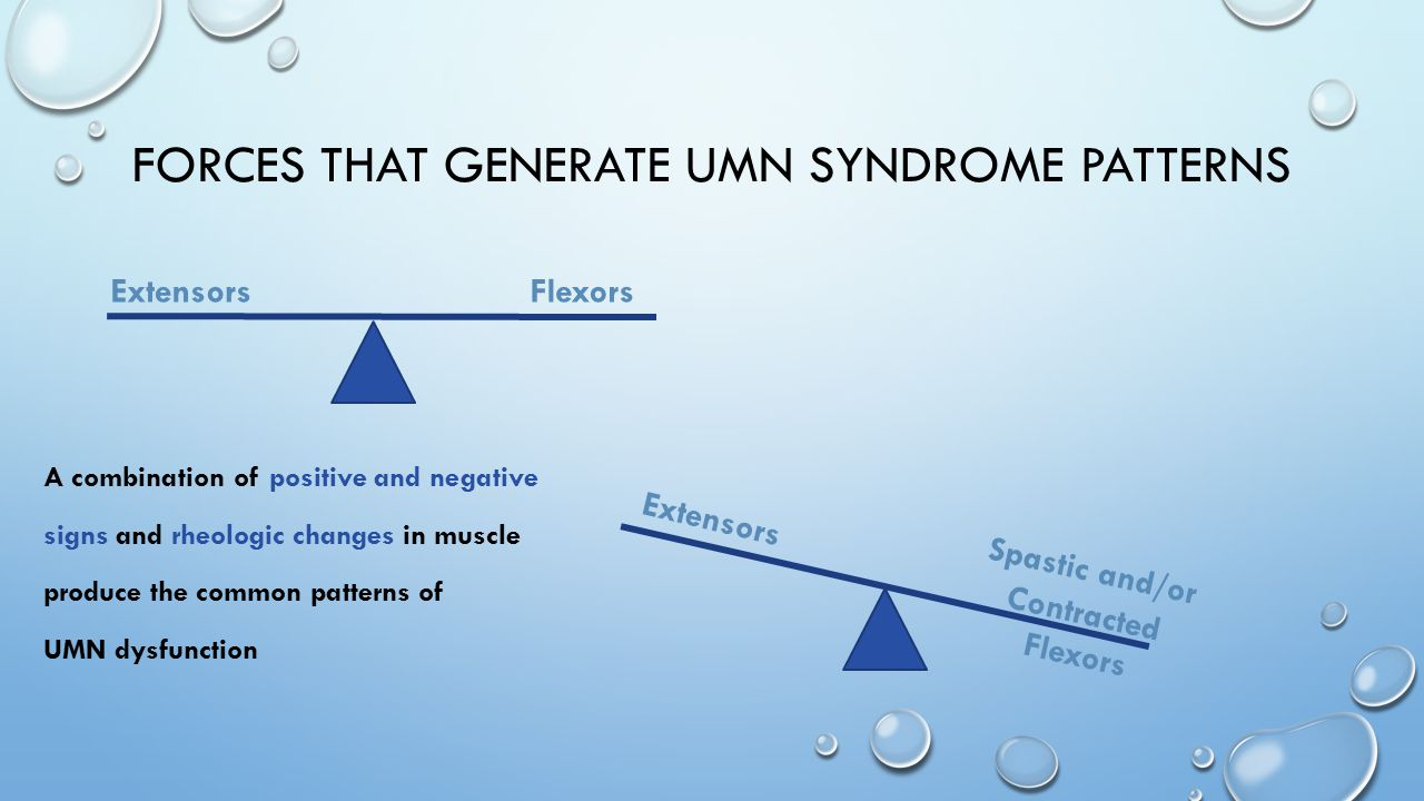 FORCES that generate umn syndrome patterns
