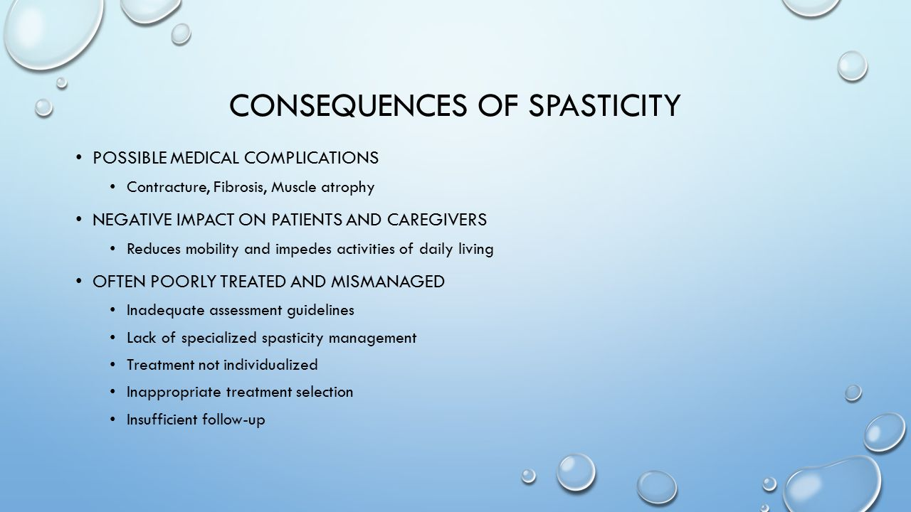 Consequences of Spasticity