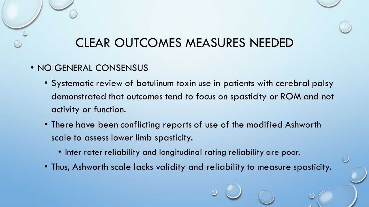 Clear outcomes measures needed