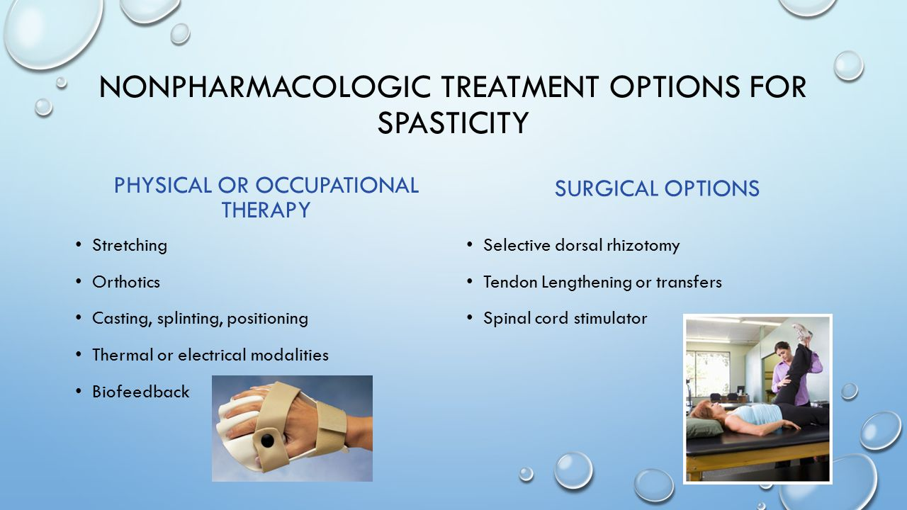 Nonpharmacologic treatment options for spasticity