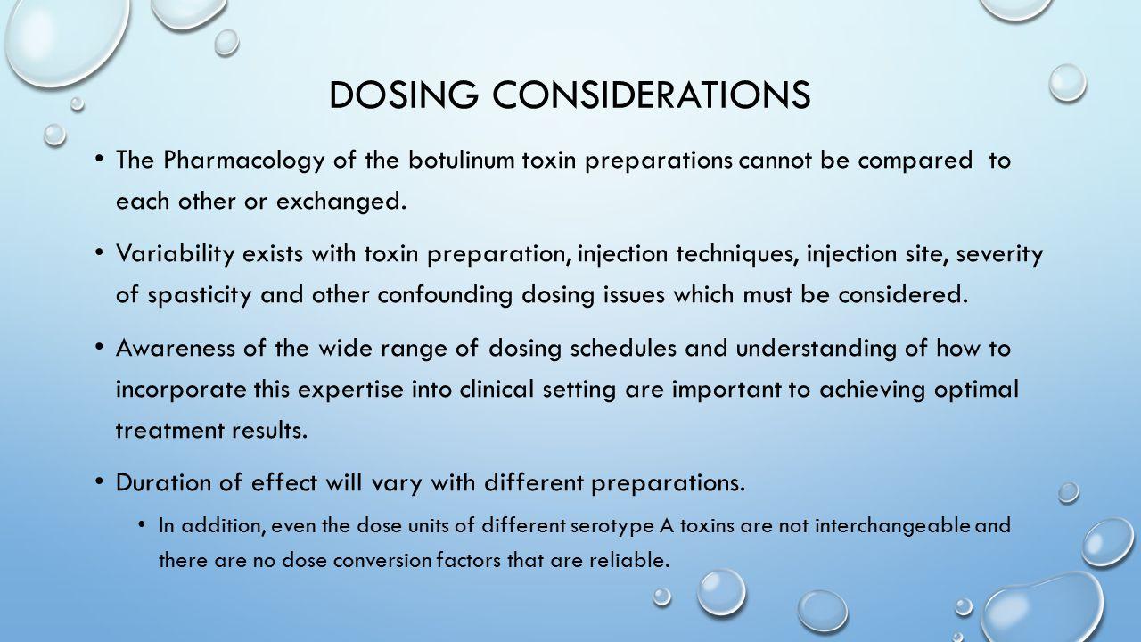Dosing Considerations