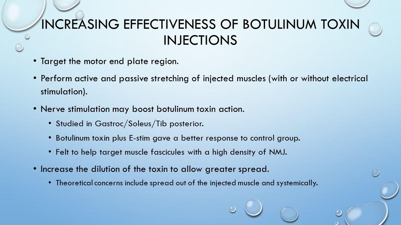 Increasing Effectiveness of Botulinum toxin injections