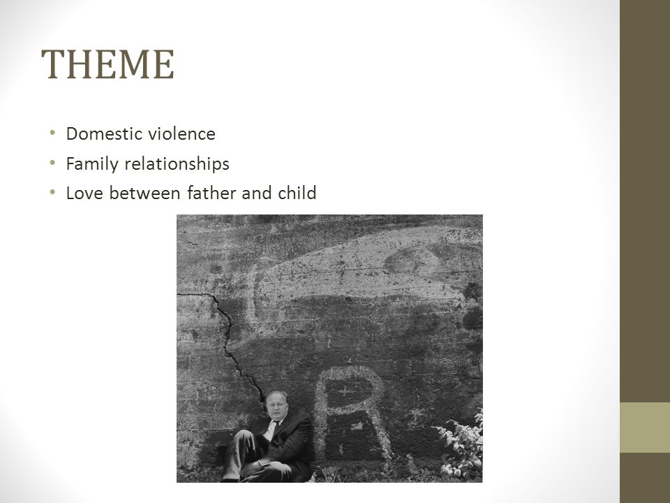 THEME Domestic violence Family relationships