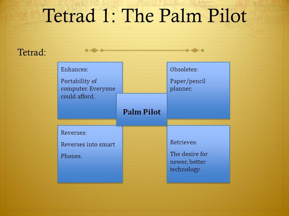 Tetrad 1: The Palm Pilot Tetrad: Palm Pilot Enhances: