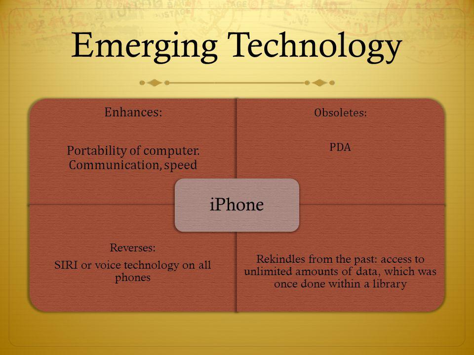 Emerging Technology iPhone Enhances: