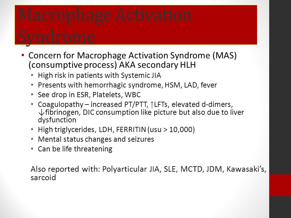 Macrophage Activation Syndrome