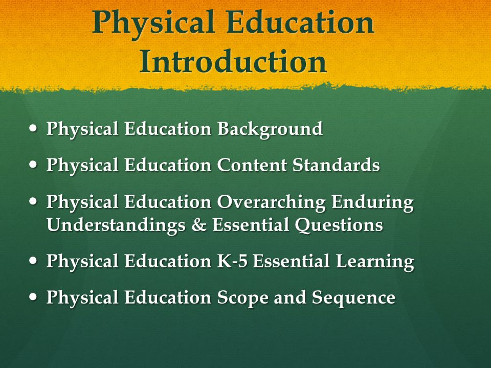 Physical Education Introduction