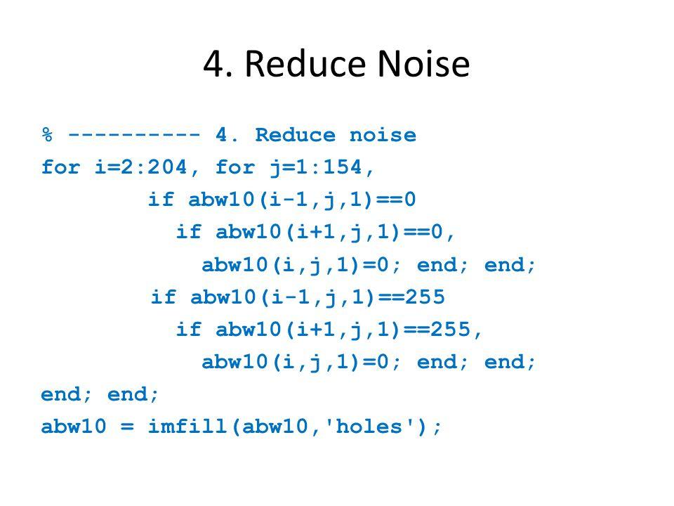 4. Reduce Noise