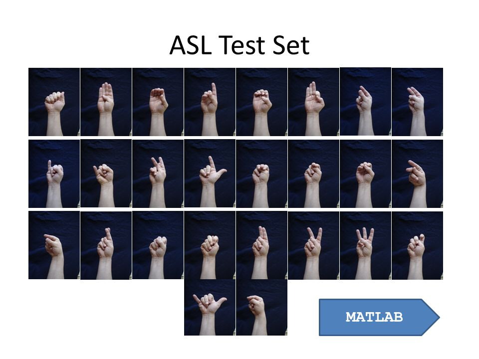 ASL Test Set MATLAB