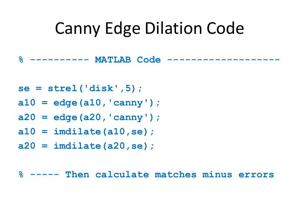 Canny Edge Dilation Code