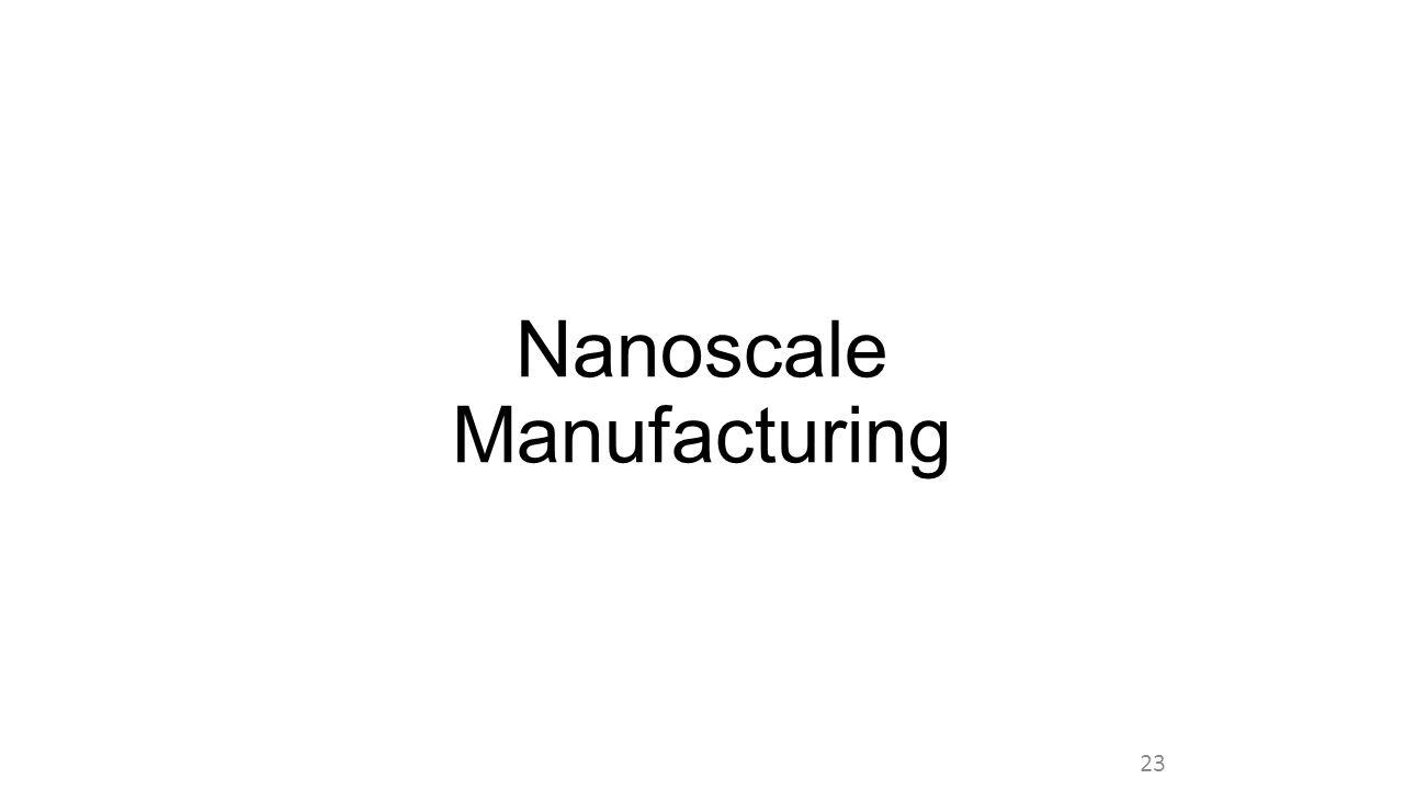 Nanoscale Manufacturing