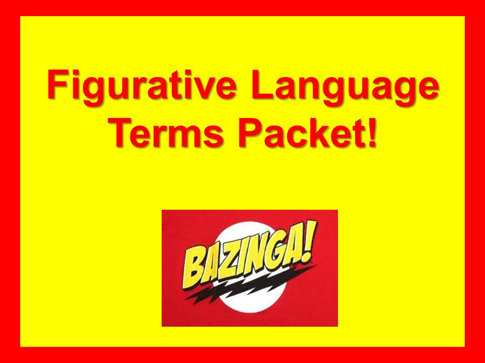 Figurative Language Terms Packet!