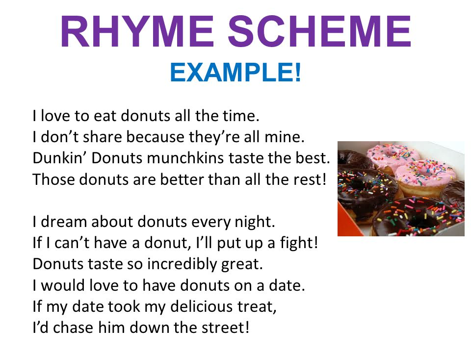 RHYME SCHEME EXAMPLE!