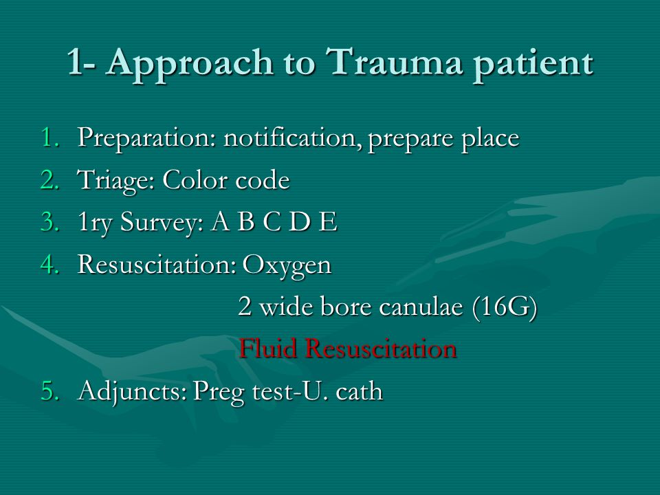1- Approach to Trauma patient