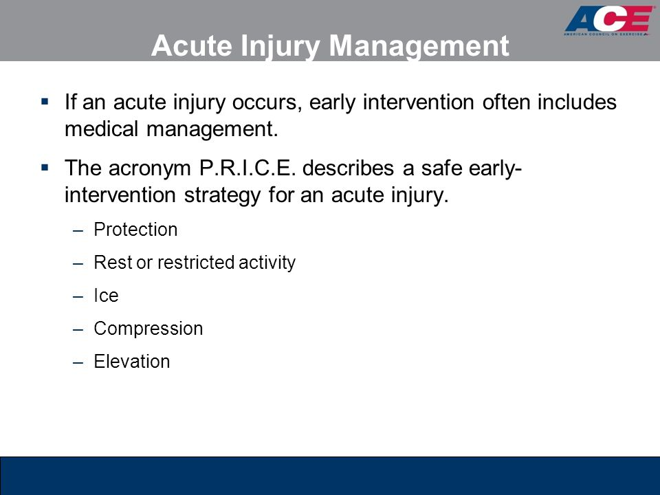 Acute Injury Management