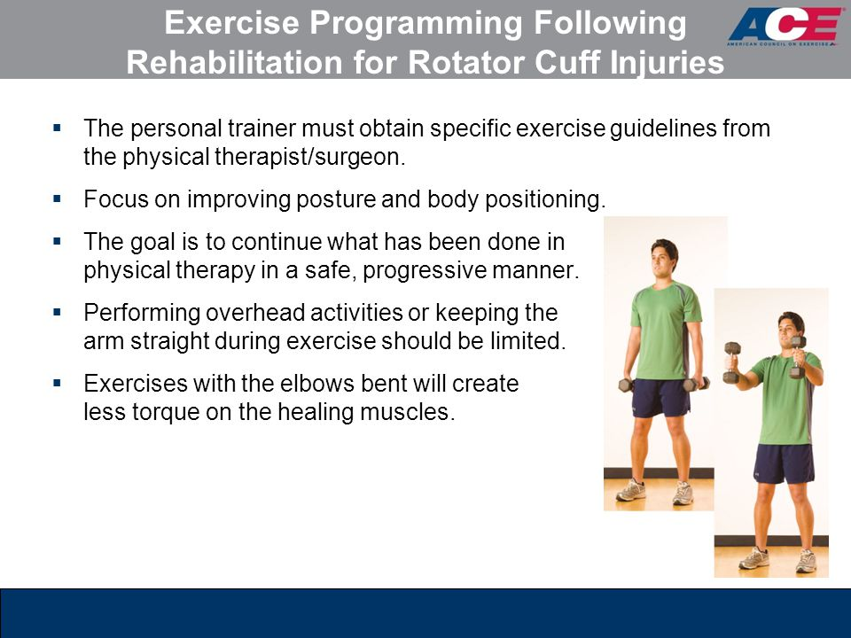 Exercise Programming Following Rehabilitation for Rotator Cuff Injuries