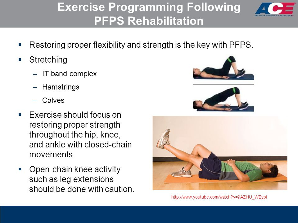 Exercise Programming Following PFPS Rehabilitation