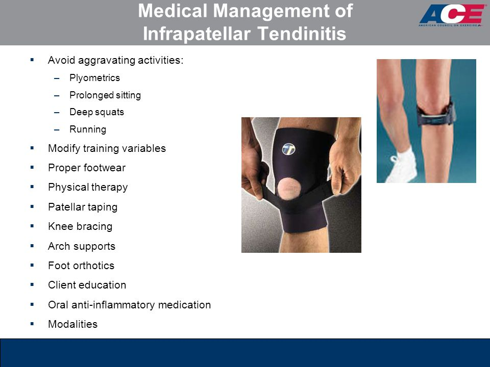 Medical Management of Infrapatellar Tendinitis