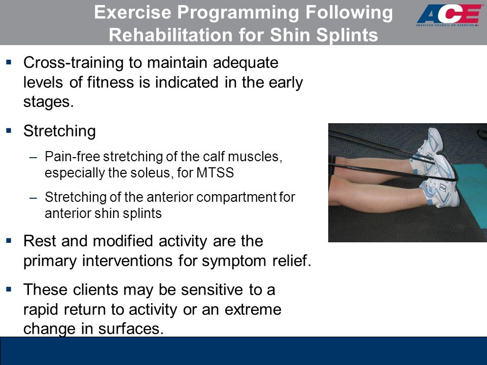 Exercise Programming Following Rehabilitation for Shin Splints