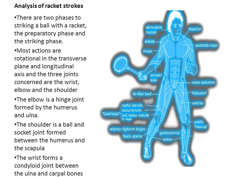 Analysis of racket strokes