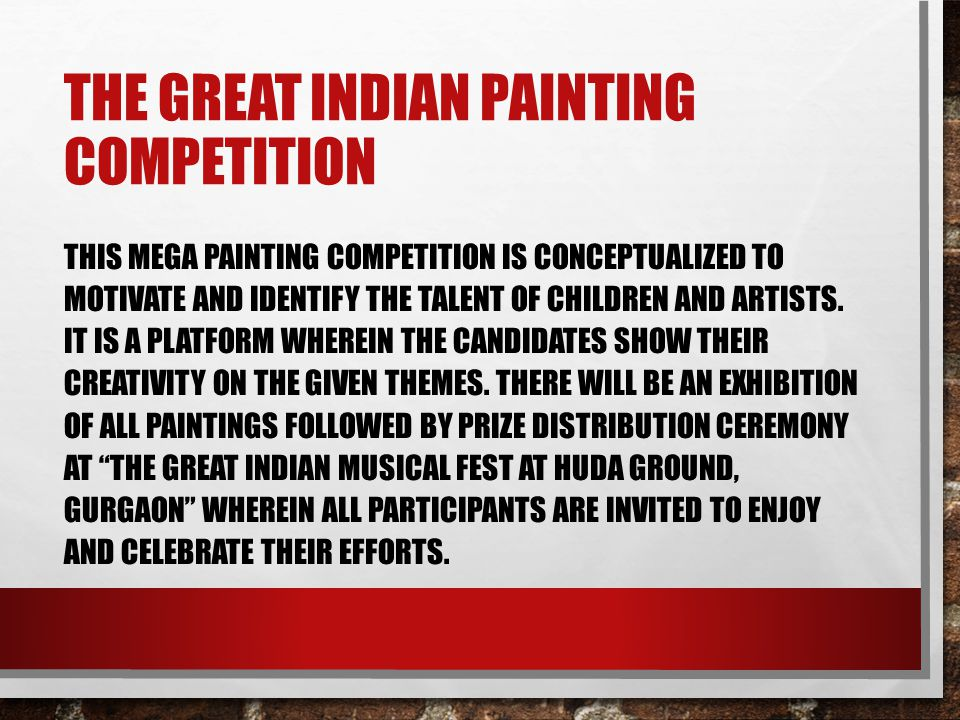 The great Indian painting competition