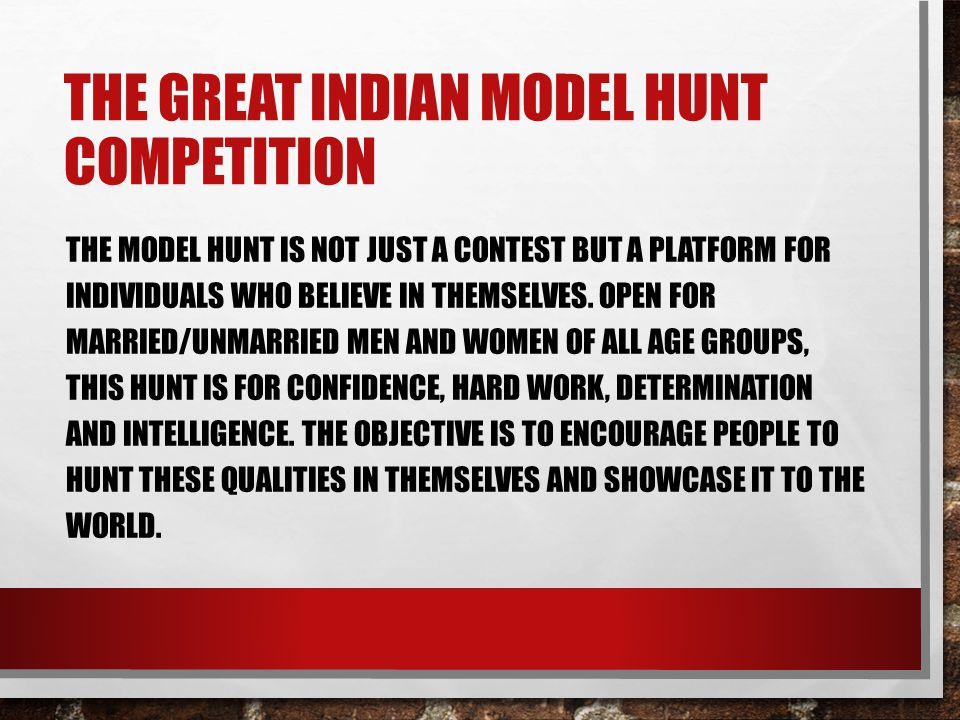 The great Indian model hunt competition