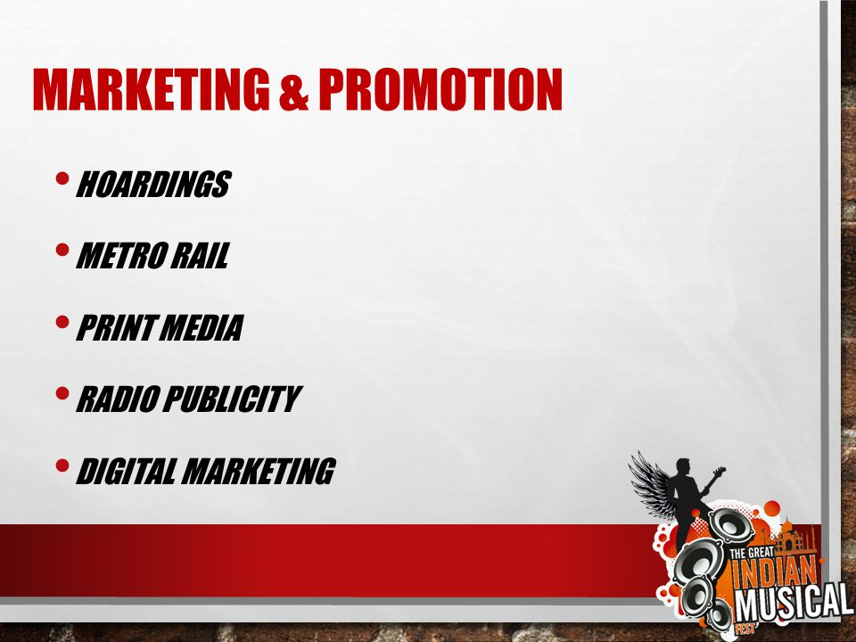 MARKETING & PROMOTION HOARDINGS METRO RAIL PRINT MEDIA RADIO PUBLICITY