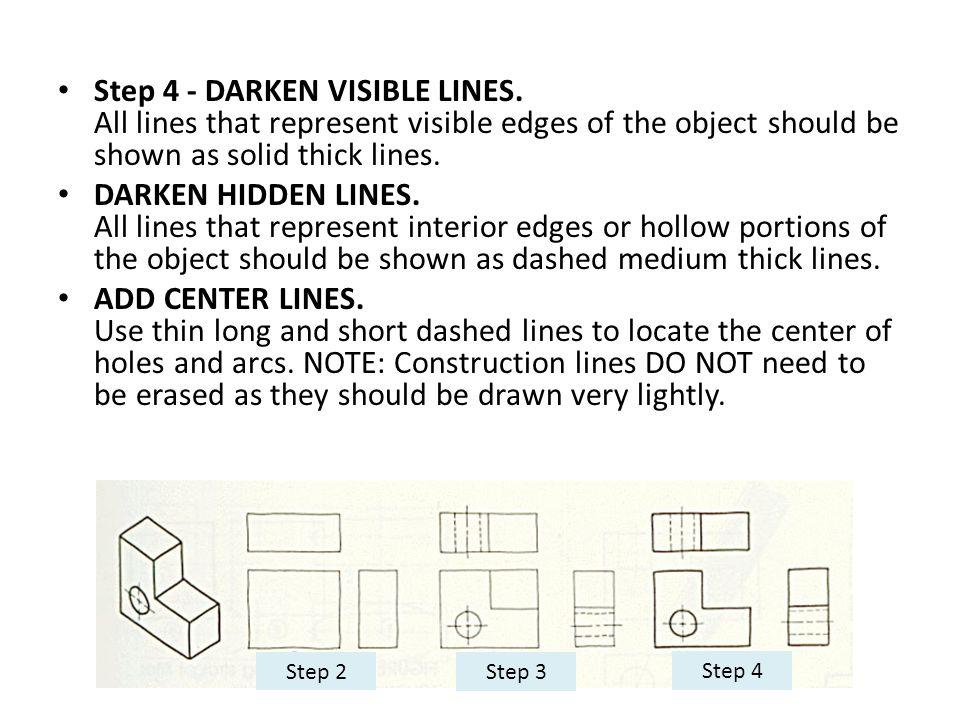 Step 4 - DARKEN VISIBLE LINES
