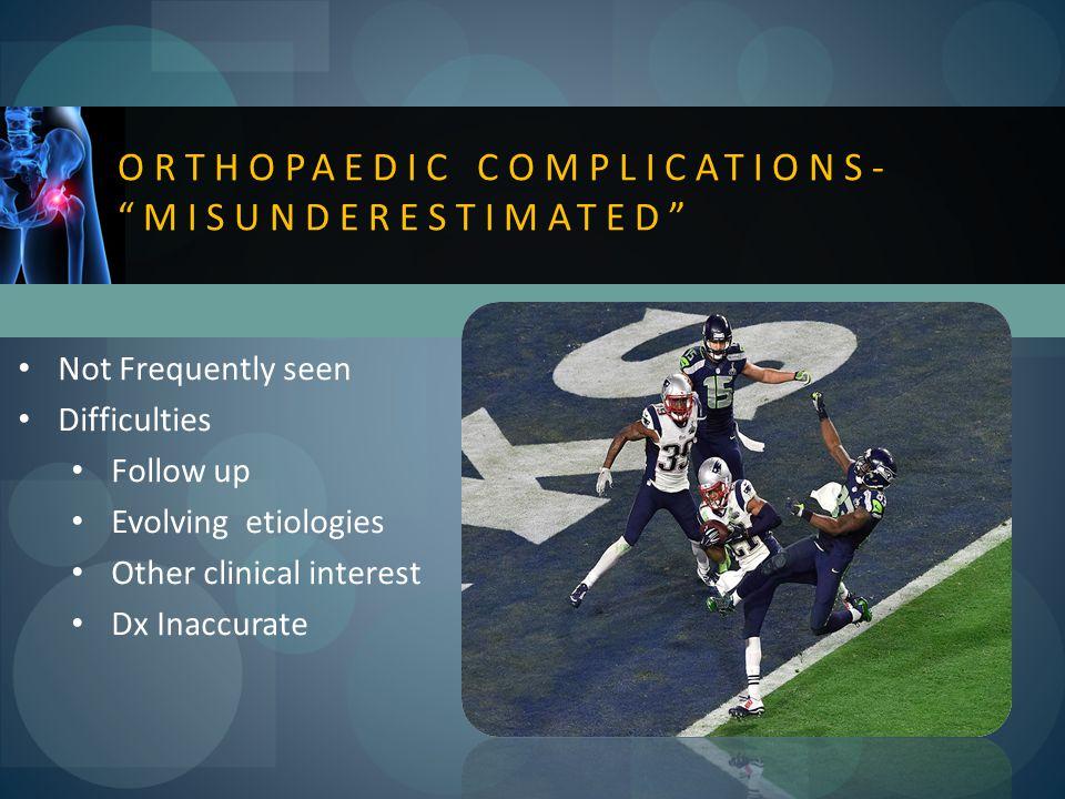Orthopaedic complications- misunderestimated