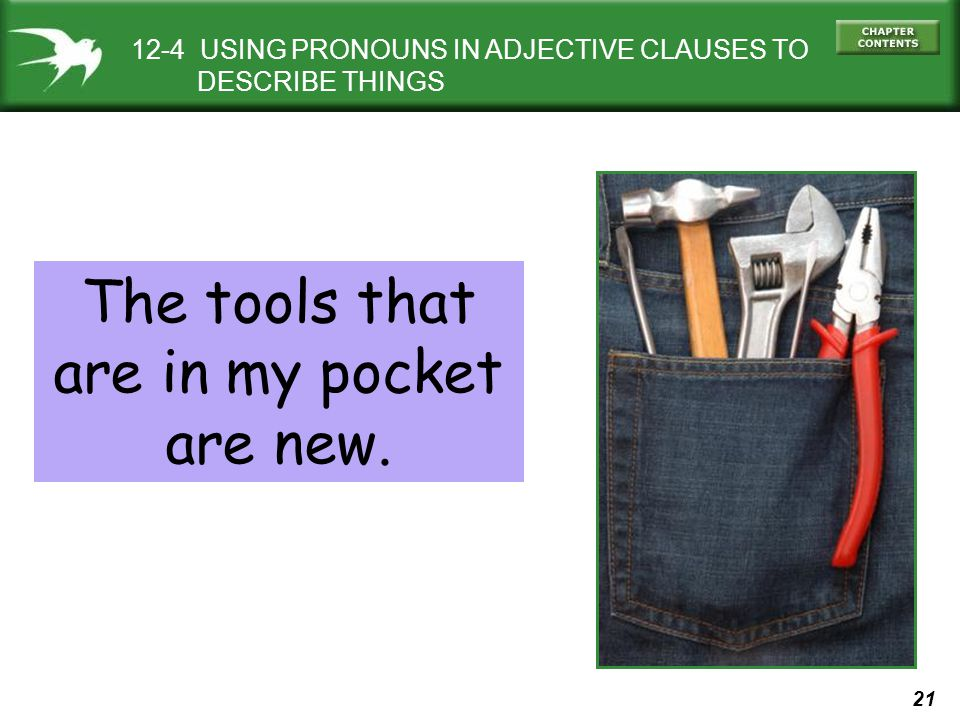 The tools that are in my pocket are new.