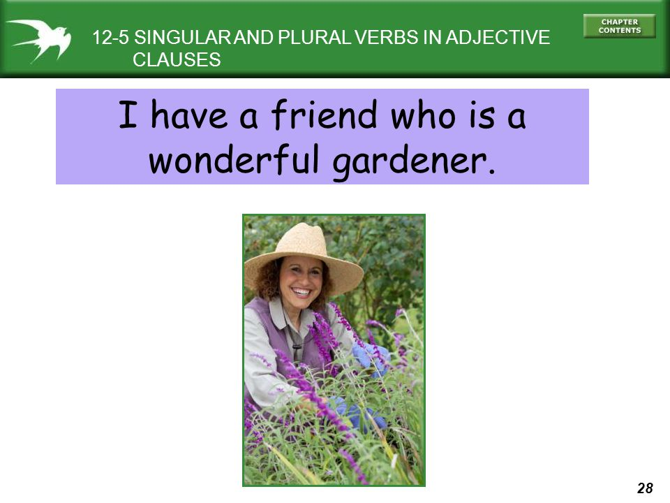 I have a friend who is a wonderful gardener.