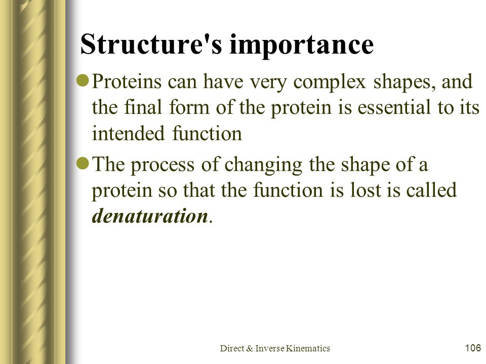 Structure s importance