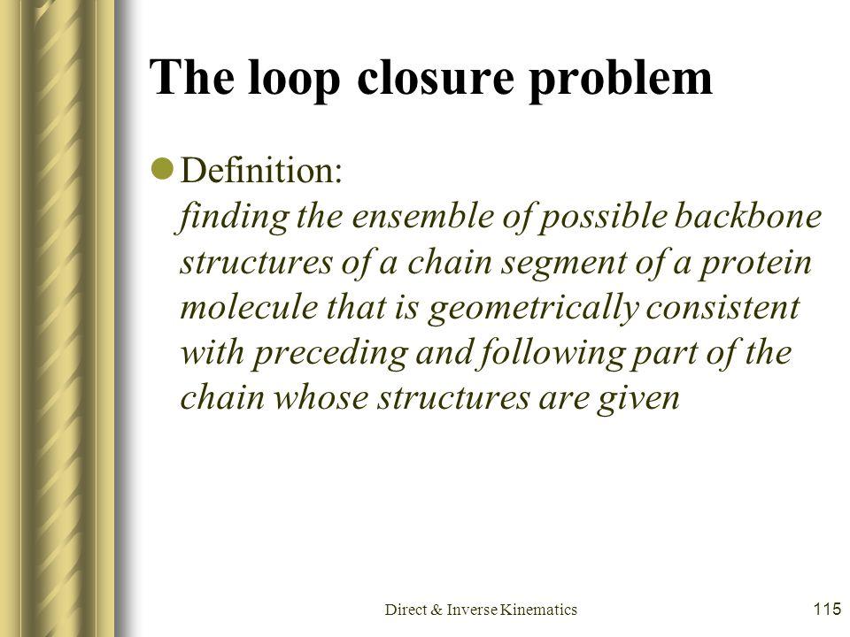 The loop closure problem