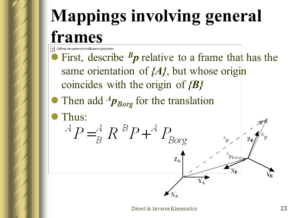 Mappings involving general frames