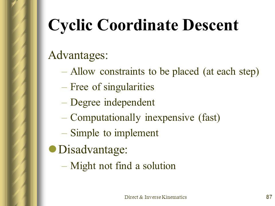 Cyclic Coordinate Descent