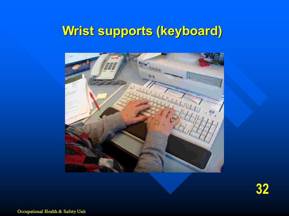 Wrist supports (keyboard)