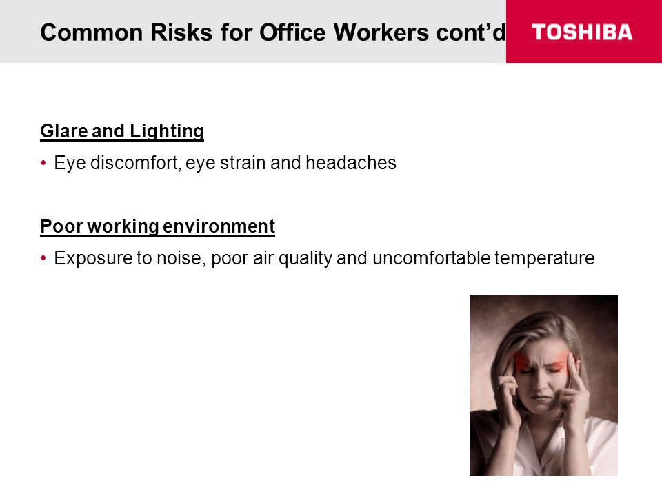 Common Risks for Office Workers cont'd