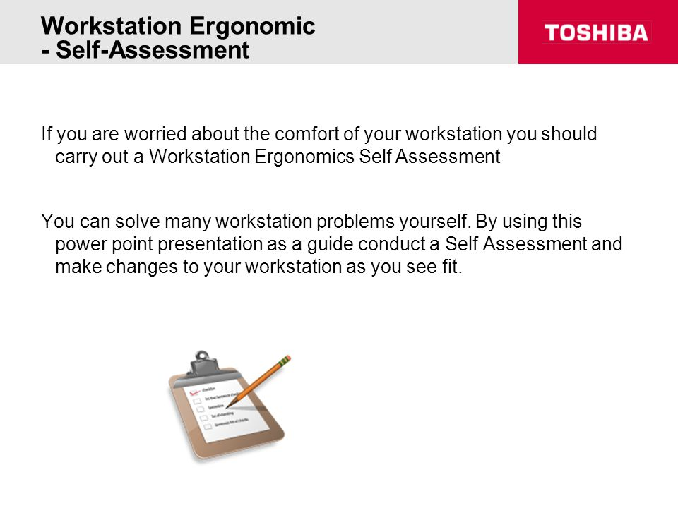 Workstation Ergonomic - Self-Assessment